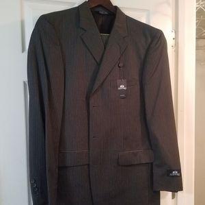 Mens stafford suit jacket and pants black w/stripe